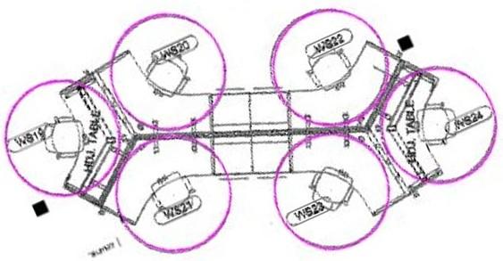 6 clear circles